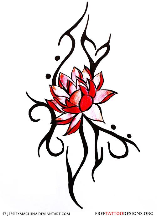 Lotus and tribal tattoo design lotus design pinterest tribal lotus and tribal tattoo design mightylinksfo