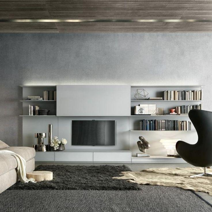 nice Déco Salon - Ensemble mural tv à LED pour le salon moderne ...