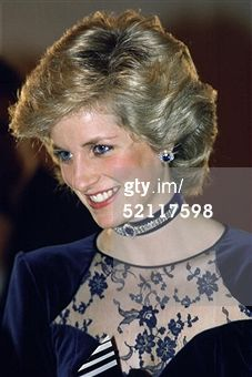 NEWPORT, UNITED KINGDOM - OCTOBER 13: Diana Princess Of Wales As Patron Of The Newport International Competition For Young Pianists Attending The Final In Newport, Wales (Photo by Tim Graham/Getty I... Read more