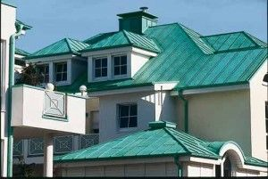 Copper Roofing Guide For Homeowners Roofingcalc Com Estimate Your Roofing Costs Copper Roof House Copper Roof Roof Cost