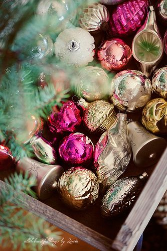 Holiday Christmas Decorations Christmas Baubles Vintage