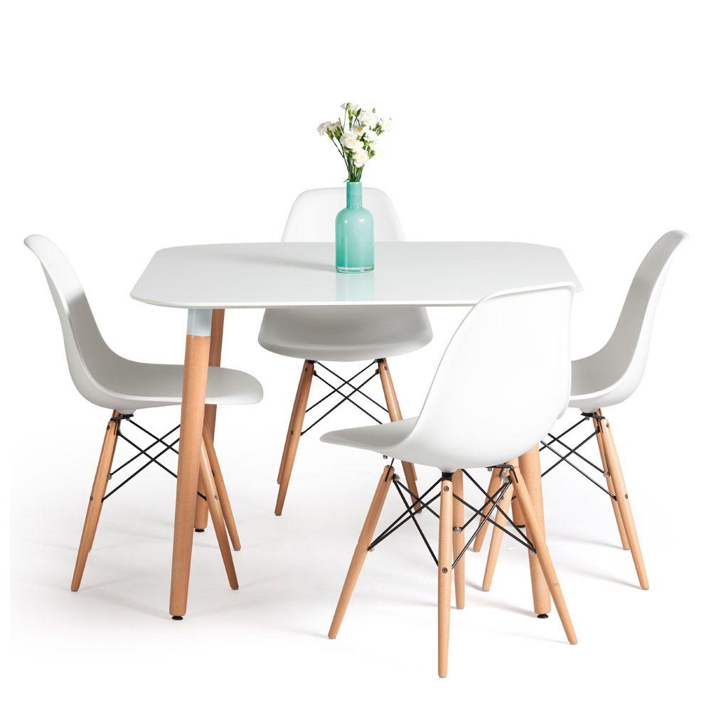 Kaz Home Mesa De Comedor Pl Stico Blanco Oechsle Deco  # Muebles Oeschle
