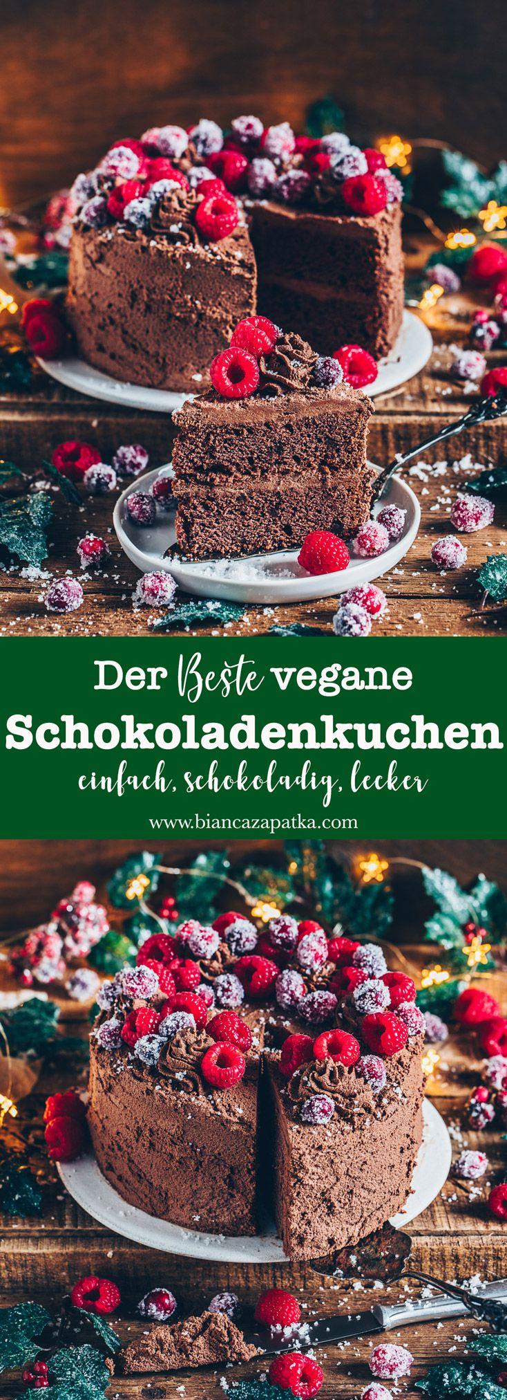 Veganer Schokoladenkuchen (Das beste Rezept) - Bianca Zapatka   Rezepte