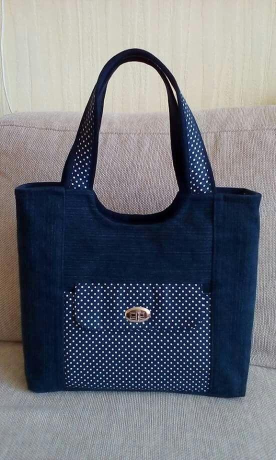 Pin von Hilaria M. auf Bolsas   Pinterest   Taschen nähen, Jeans ...
