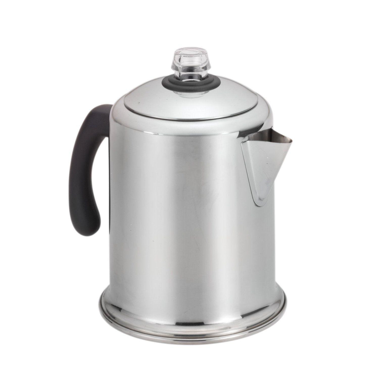 Farberware Clic Stainless Steel Yosemite 8 Cup Coffee Percolator At