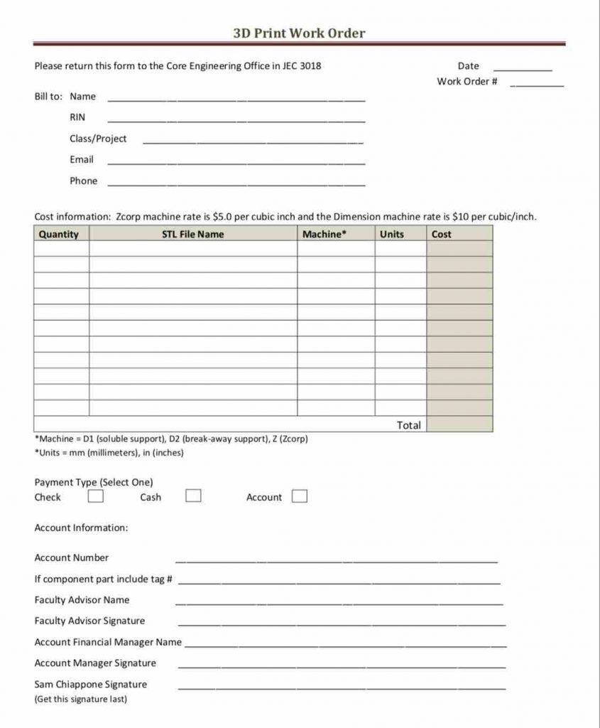 39 Work Order Templates Download Pdf Work Order Format Pertaining To Job Card Template Mechanic Cumed Invoice Template Best Templates Templates Downloads