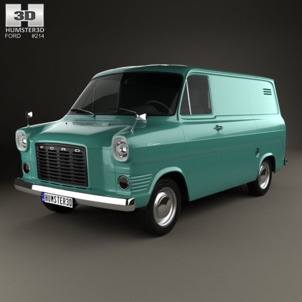 Ford Transit Panel Van 1965 Fully Editable And Reusable 3d Model
