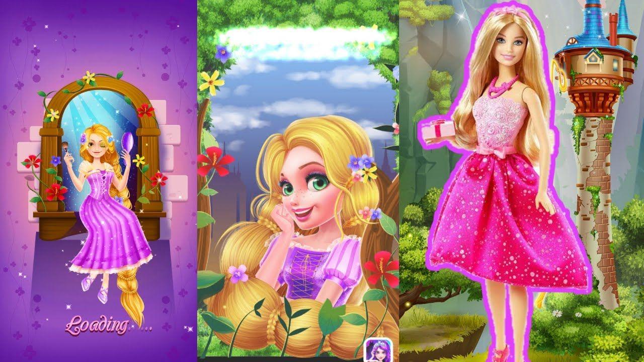 لعبة صالون التجميل مكياج وقص الشعر Long Hair Princess