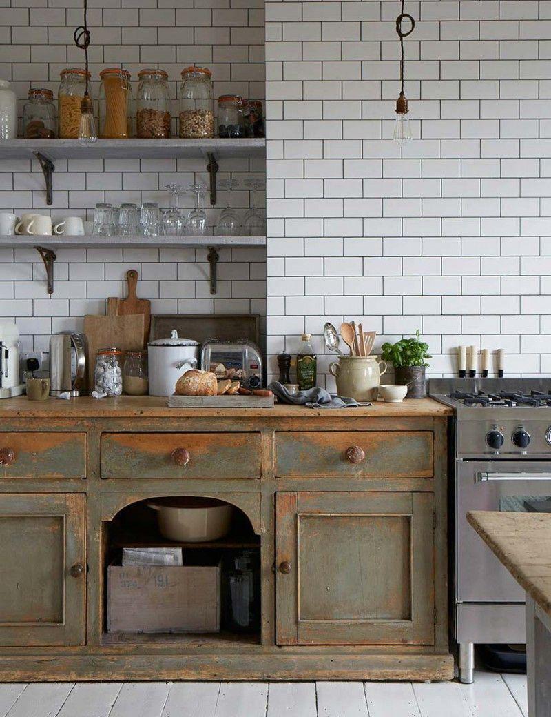 Matowa płaska cegiełka 10x20 | Kuchnia | Pinterest