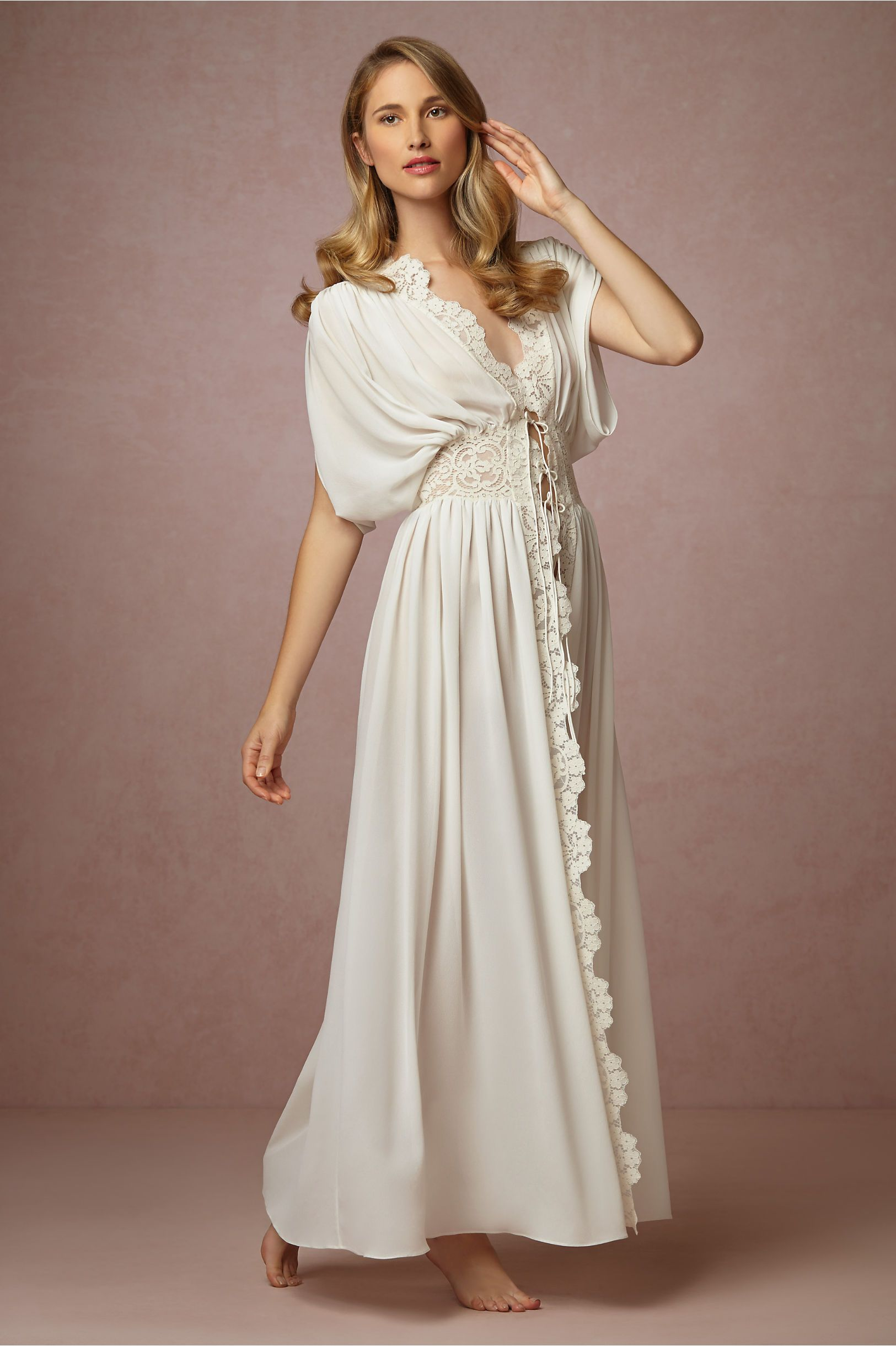 Lila Lace Robe from BHLDN - omg I so want this for my pre and post ...