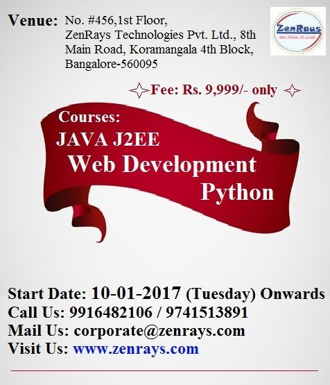 We Are Starting Vocational Courses For JAVA J2EE, Web