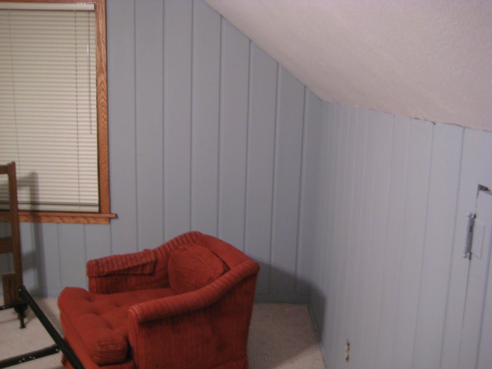Rental Improvement Painting Faux Wood Paneling Put That On Your ...