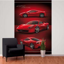 Ferrari Wall Mural 232m x 158m Wall murals Red wallpaper and Walls