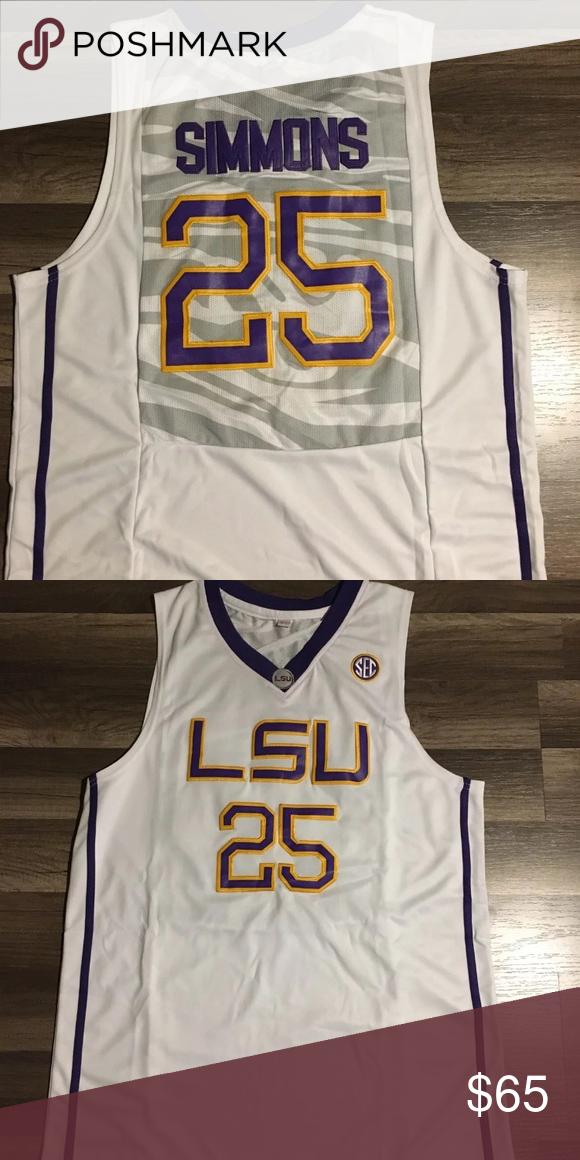 best website f073c 0a455 Ben Simmons LSU Tigers NCAA basketball jersey Ben Simmons ...