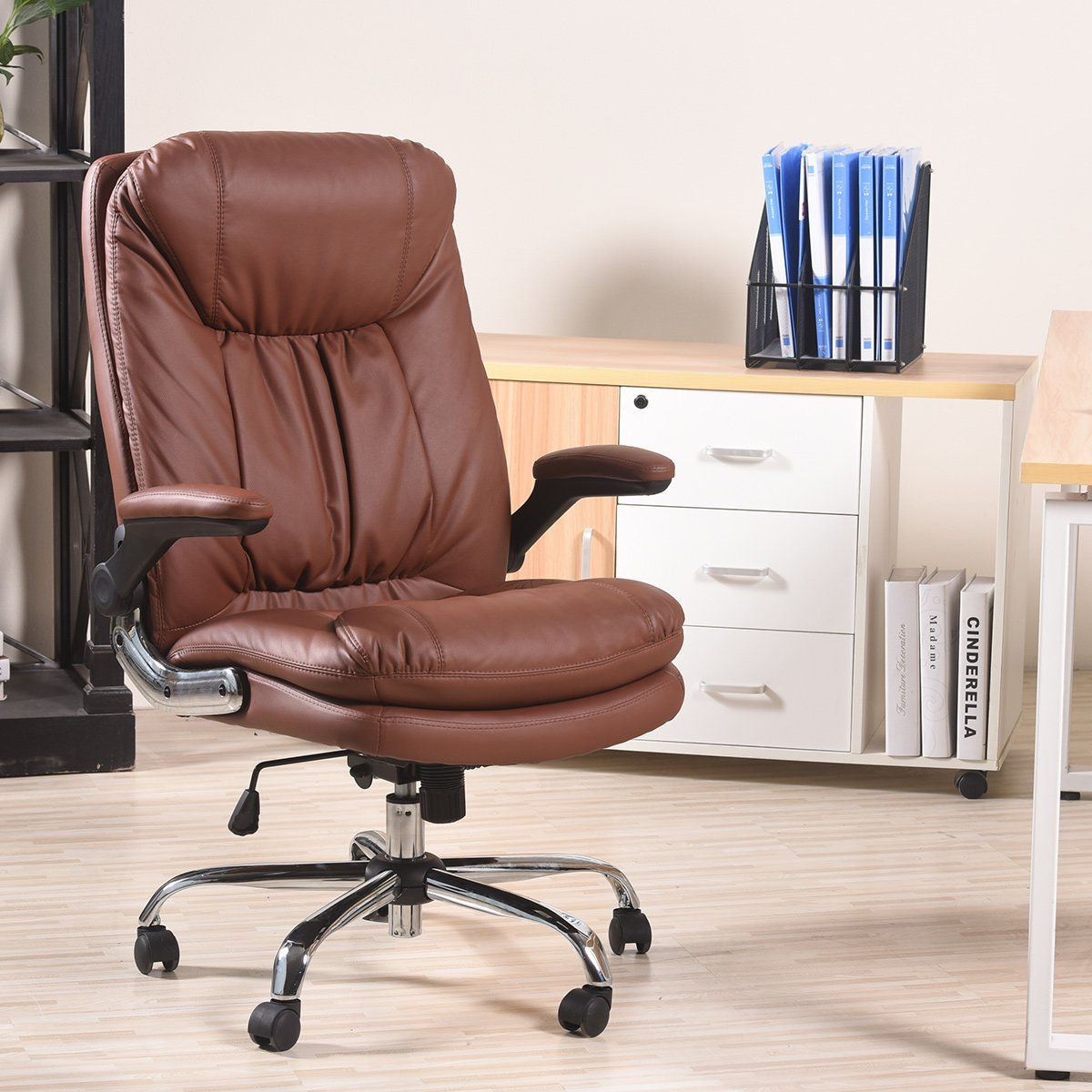 Yamasoro Ergonomic High Back Executive Office Chair Pu Leather Computer Gaming Desk Chai Executive Office Chairs