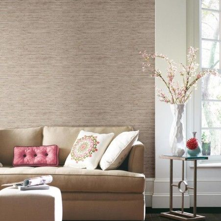 Grasscloth Peel and Stick Wallpaper Tan Wallpaper
