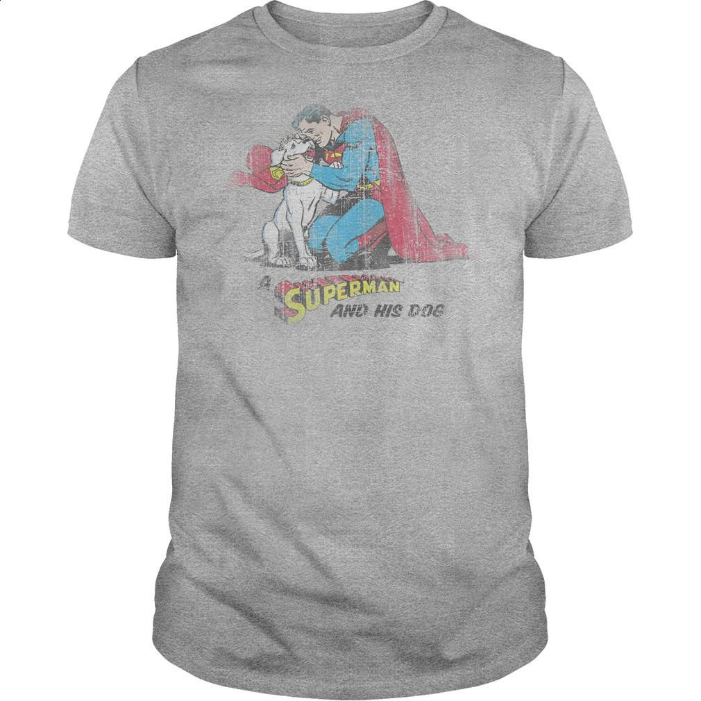 Superman And His Dog  T Shirt, Hoodie, Sweatshirts - tshirt design #fashion #style