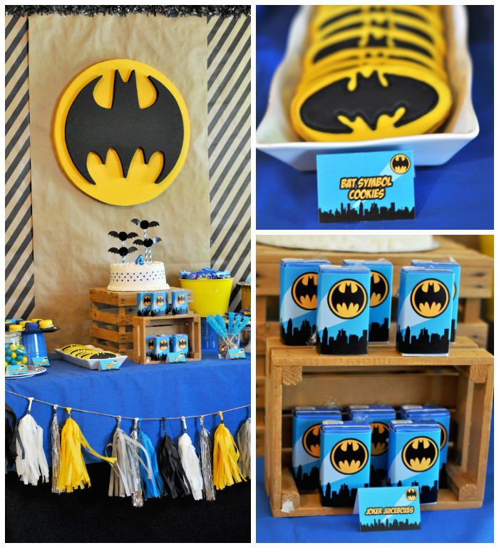 Lego Batman inspired birthday party via Karas Party Ideas