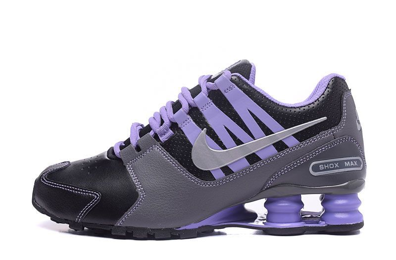 pretty nice c8ac1 8ce24 Nike Shox NZ Shox Avenue Black Gray Purple Women s Girl Sport Athletic  Running Shoes