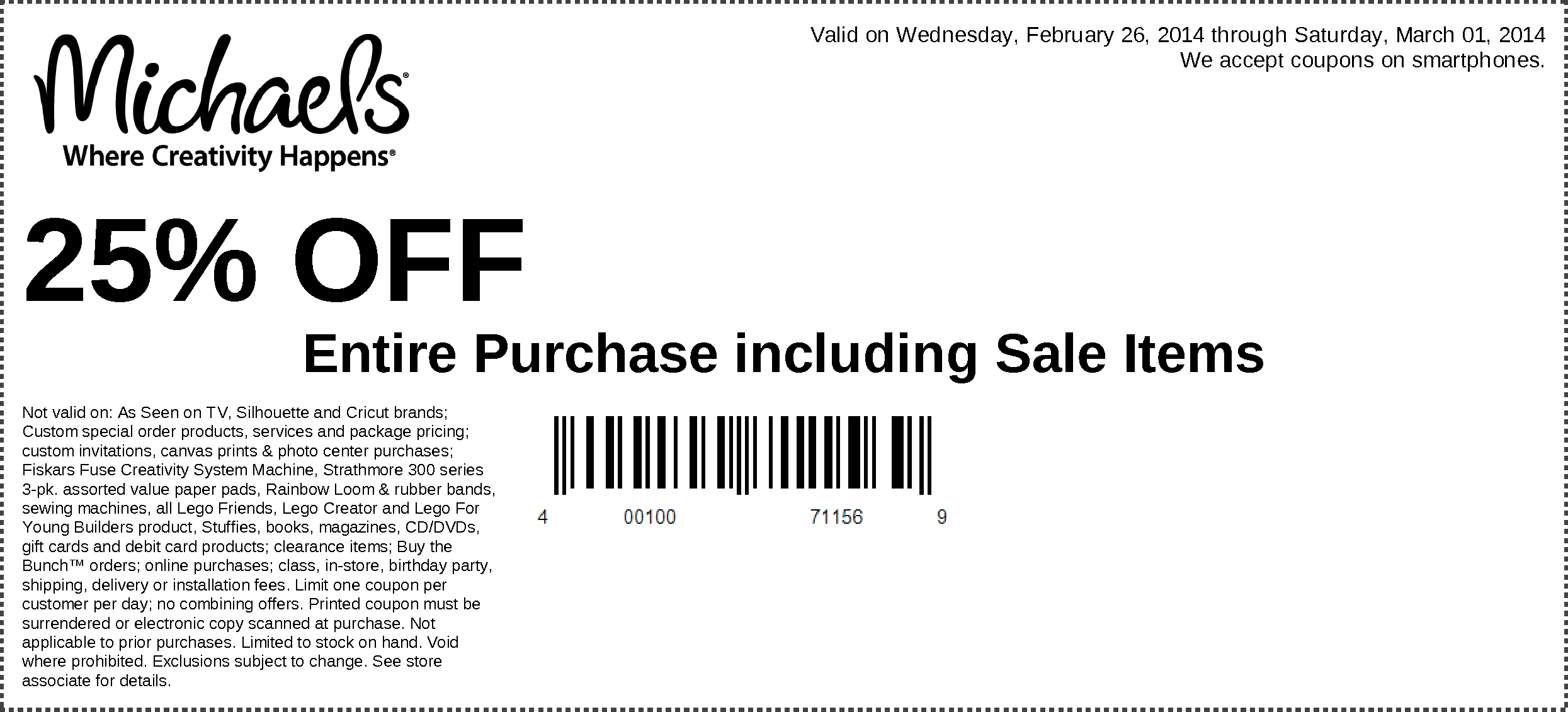 michaels coupon sale items