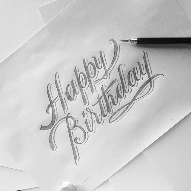 Happy Birthday To Me Happy Birthday Calligraphy Happy Birthday Hand Lettering Happy Birthday Caligraphy
