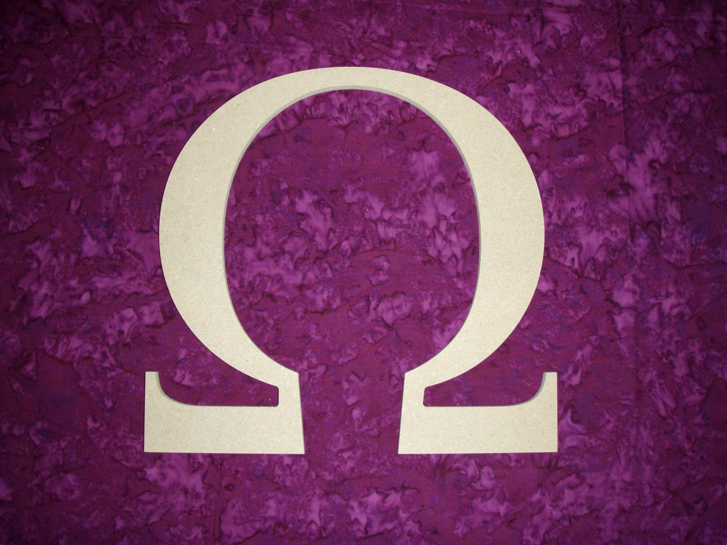 Omega Greek Letter Symbol Unfinished Wooden Letters 12 Inch Tall