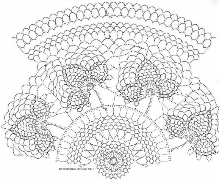 crochet doily diagrams