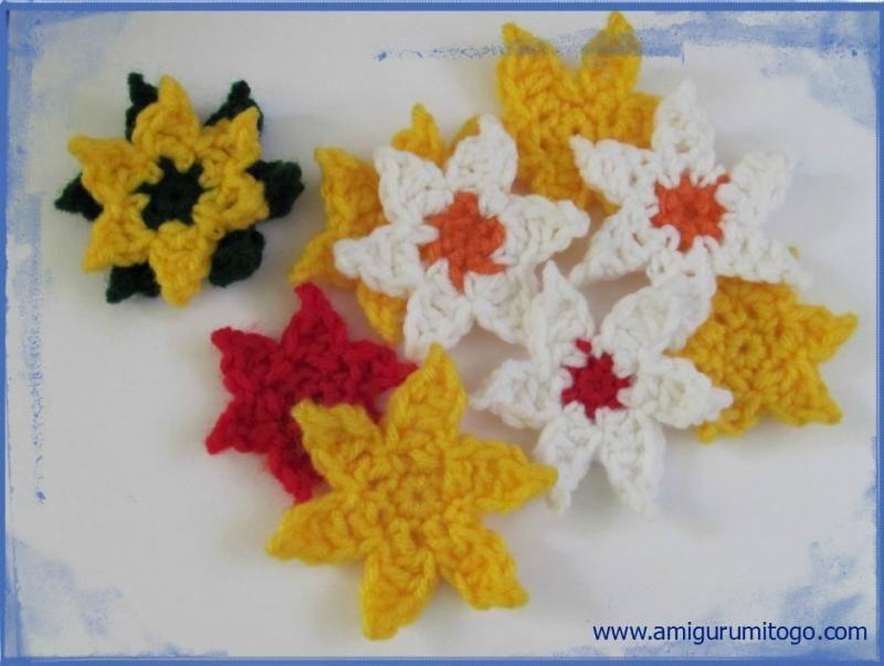 6 Point Star Flower The Yarn Box Crochet Embellishment Patterns