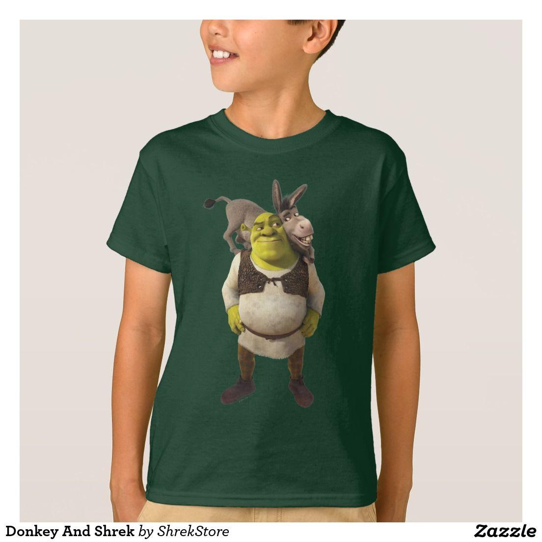 84894634e Donkey And Shrek T-Shirt   Zazzle.com   Shrek Everything   Shirts ...