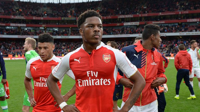 Chuba Akpom (middle) wants to stay and fight for his place