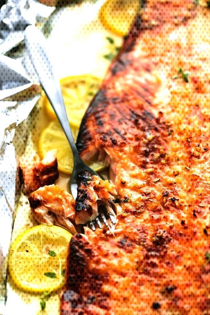 BAKED HONEY-LEMON GARLIC SALMON IN FILM - Healthy eating - BAKED HONEY-LEMON GARLIC SALMON IN FILM