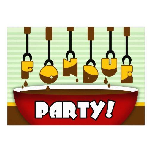 Chocolate Fondue Party Invitations – Fondue Party Invitation Wording