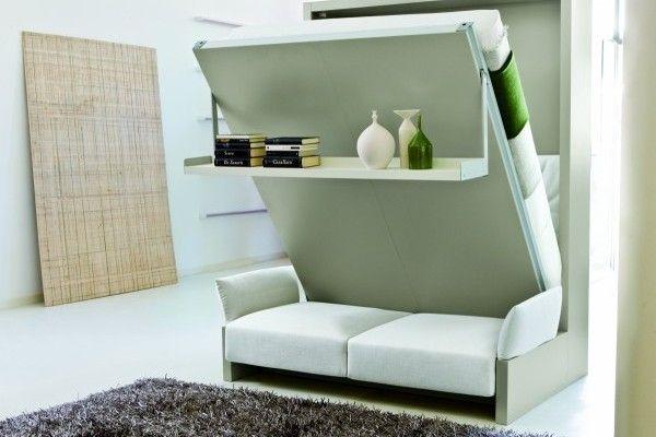 Lit Escamotable Canape Modele Tres Haut De Gamme Autoportant Possede Un Coffre De Rangement Wall Bed Retr