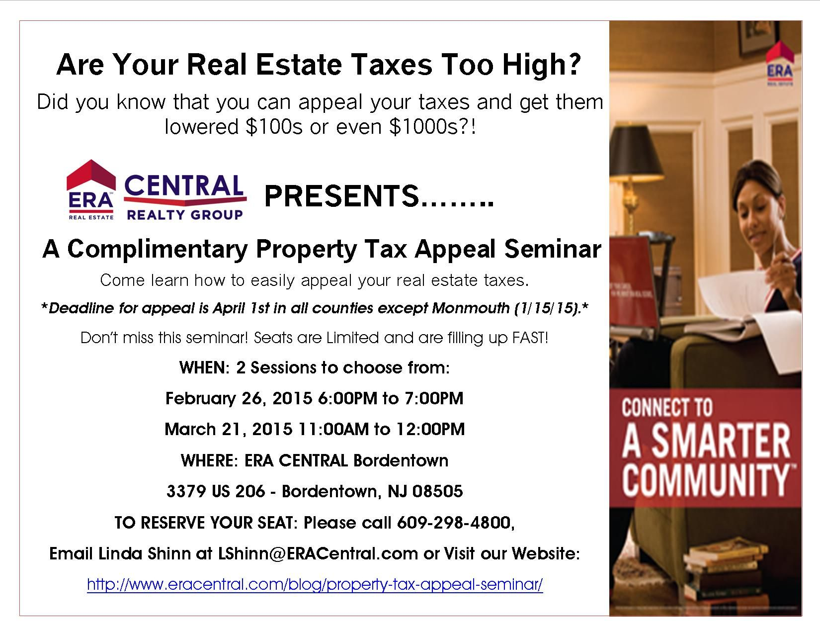 Come to our FREE SEMINAR on How to Appeal your Home Taxes! Any questions please email me vbenn@eracentral.com or call me 520-245-6224