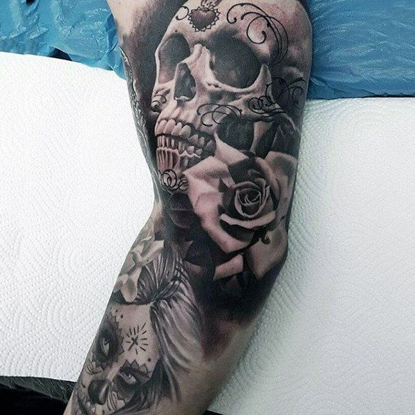 Tattoo Designs Online: 100 Sugar Skull Tattoo Designs For Men