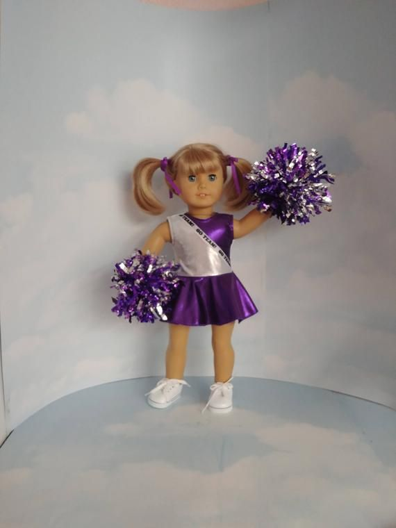 Purple and Silver Cheerleader 18 inch doll clothes #18inchcheerleaderclothes