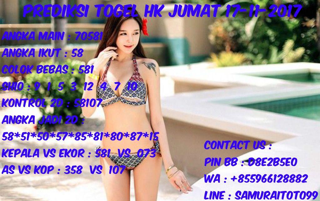 Prediksi Togel HK Pools Jumat 16 November 2017 Angka Main