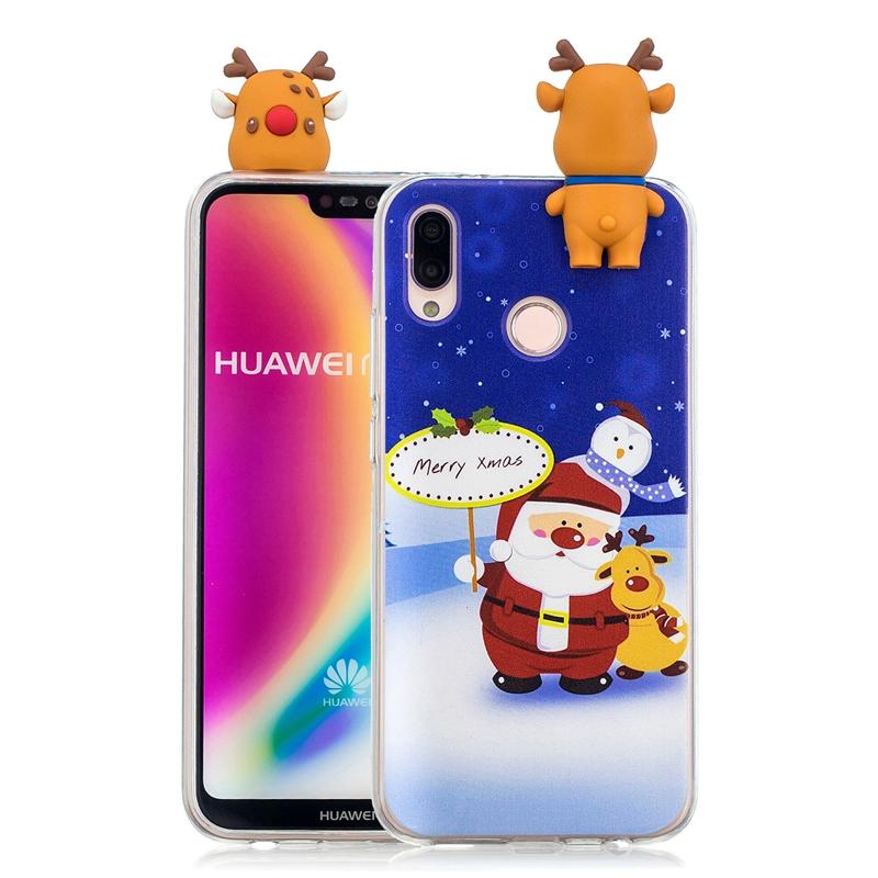 Funda Huawei P20 Lite Case Cover P20 Pro 3D Christmas Santa Claus ...