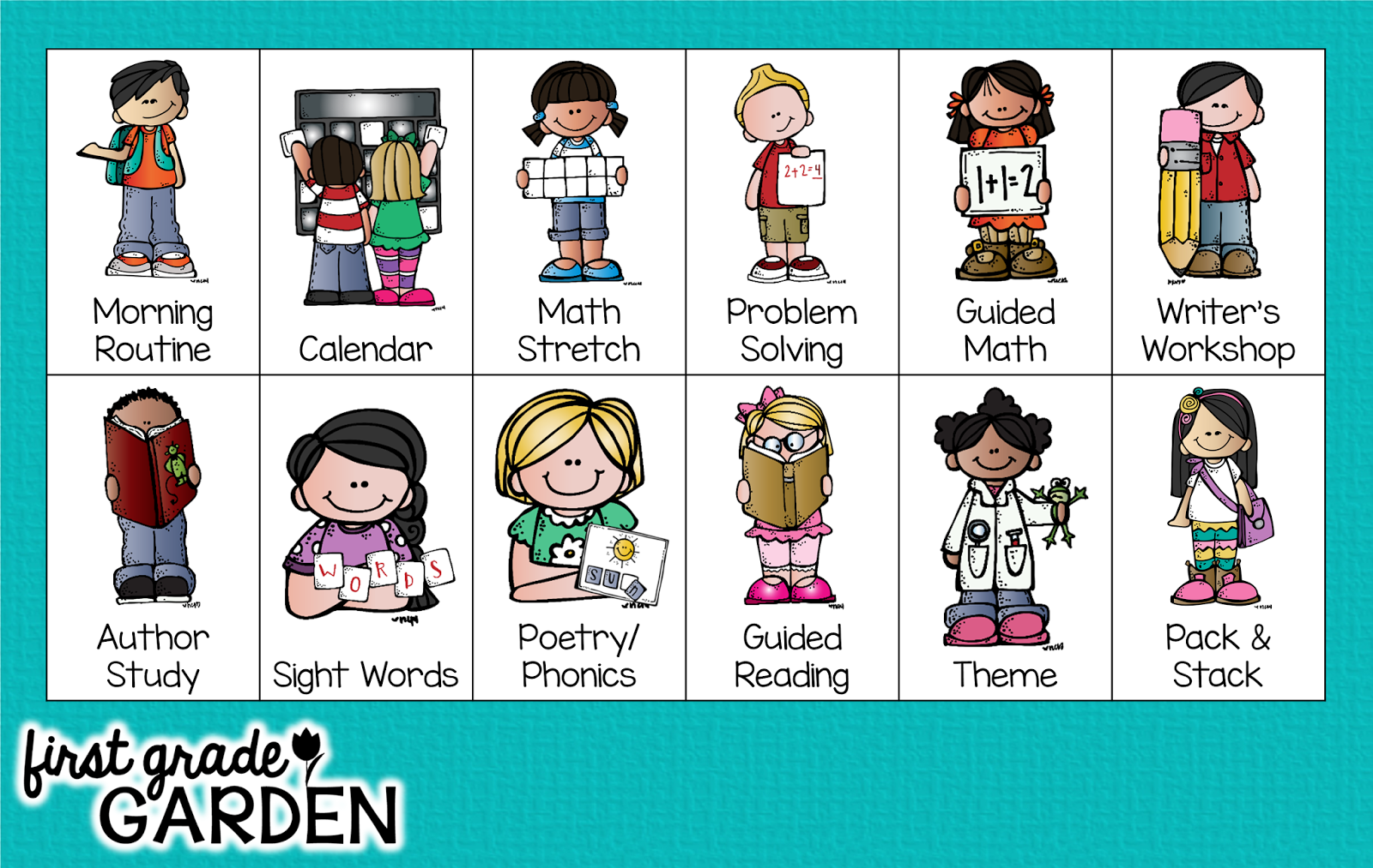 first grade garden: daily schedule - guided reading {what is the
