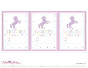 Free Unicorn Printables Invitations Catchmyparty Com Unicorn Invitations Unicorn Party Invites Unicorn Birthday Invitations