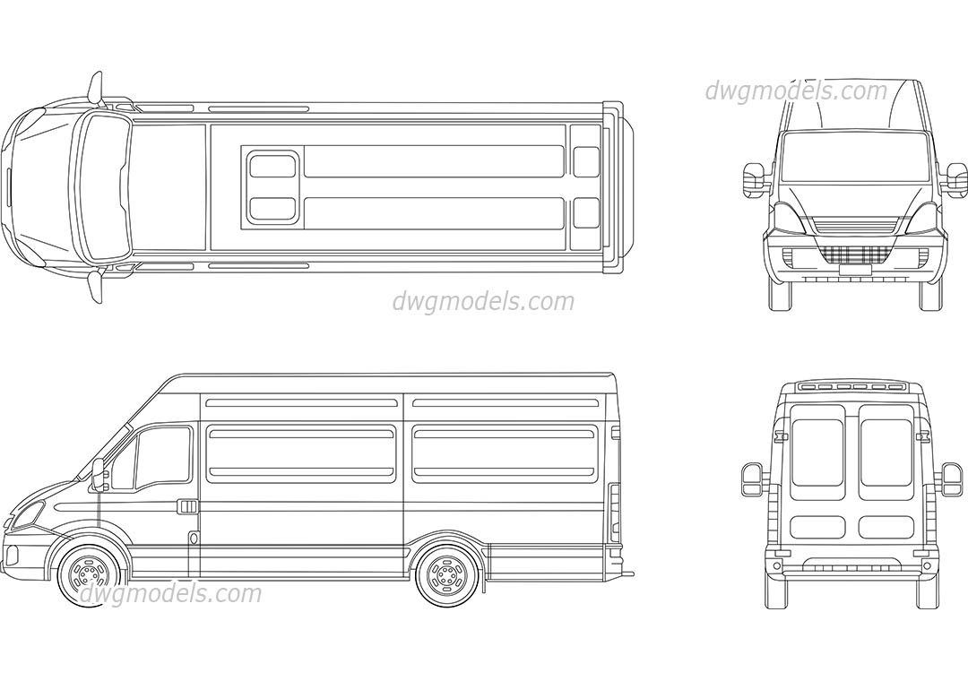 Iveco 1 - CAD Blocks, Free Dwg File.