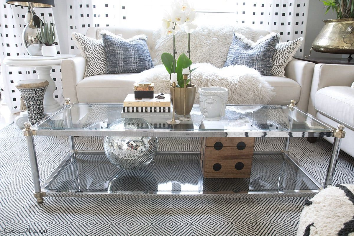 How to style a twotier coffee table decor table