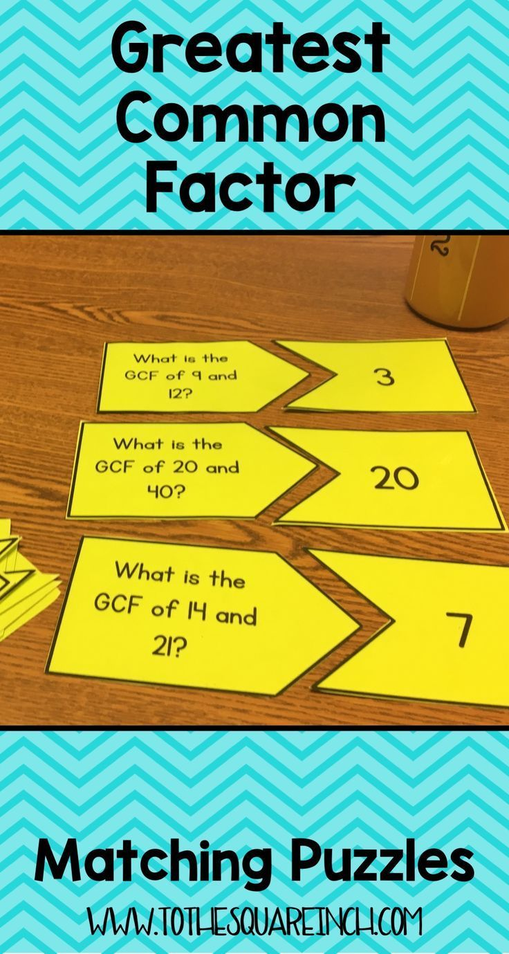 GCF Center Greatest common factors, Common factors