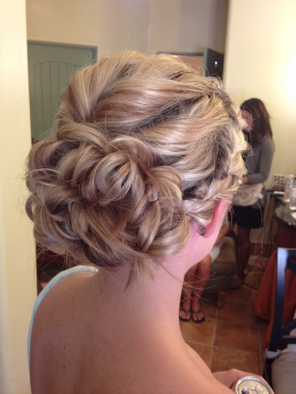 Braided romantic updo for a bridesmaid I did, best yet