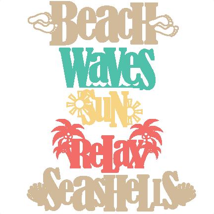 bc0bfe8d9333a Beach Word Titles SVG scrapbook cut file cute clipart files for silhouette  cricut pazzles free svgs free svg cuts cute cut files