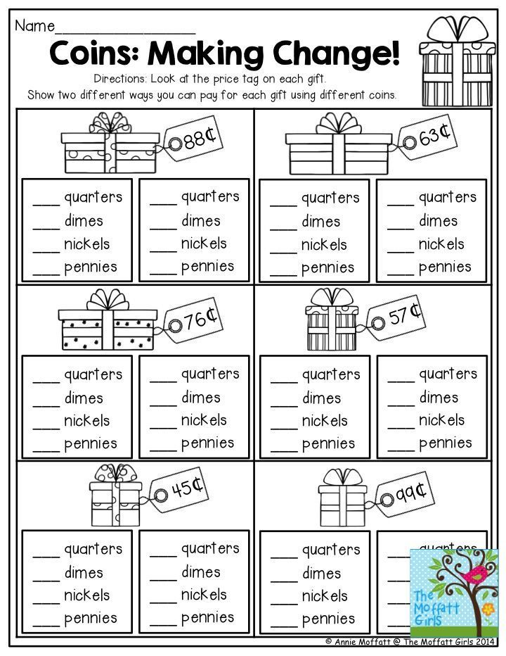 Printable Worksheets money worksheets pdf : Coins: Making Change! This is a great activity for 2nd Grade. This ...