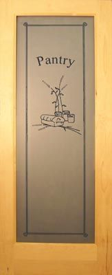 Allegheny Wood Works Custom Pantry Door 2 4 80 388 Gl Doors Etched Frosted