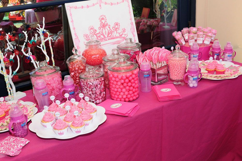 Pleasing Barbie Party Candy Buffet Barbie Theme Party Barbie Interior Design Ideas Clesiryabchikinfo
