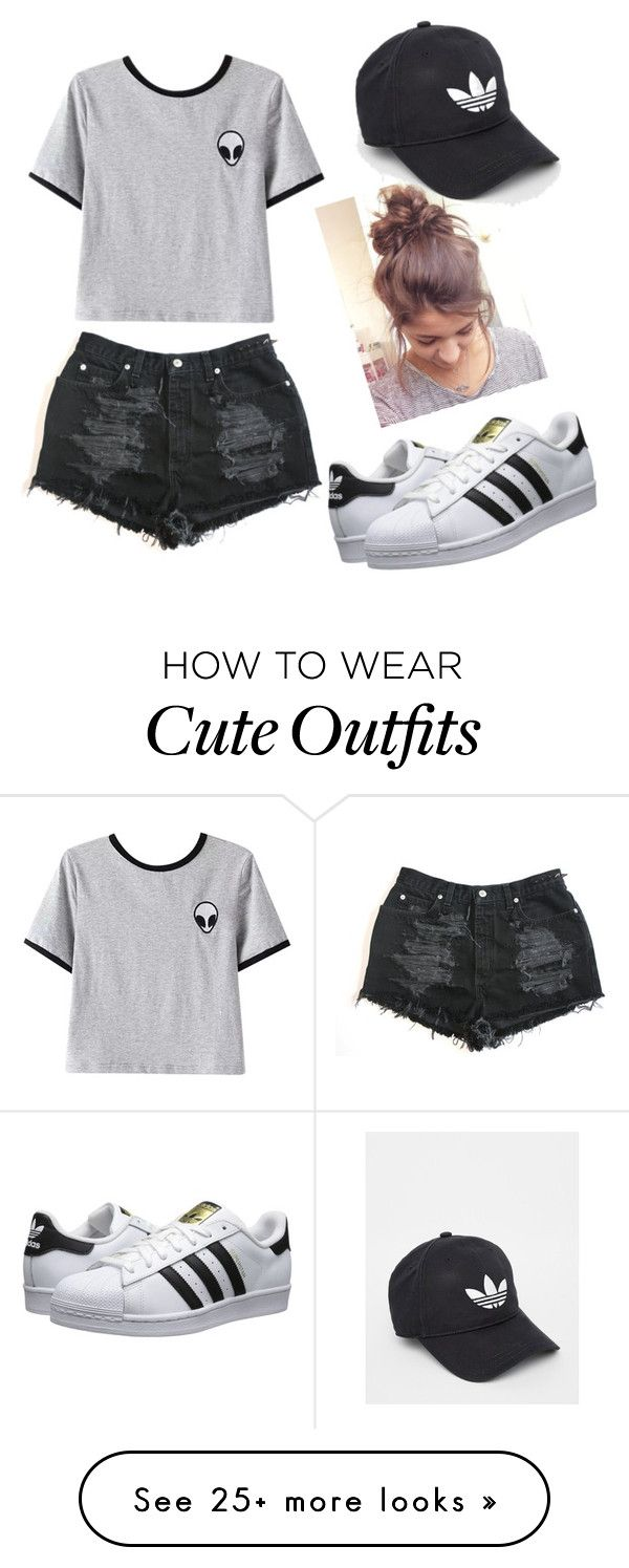 """Casual Saturday Outfit"" by edenmilligan on Polyvore featuring Chicnova Fashion, adidas Originals and adidas"