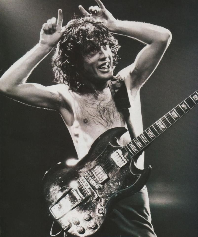 Angus Young Legends Pinterest